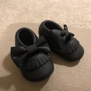 Other - Black Baby Girl Moccasins